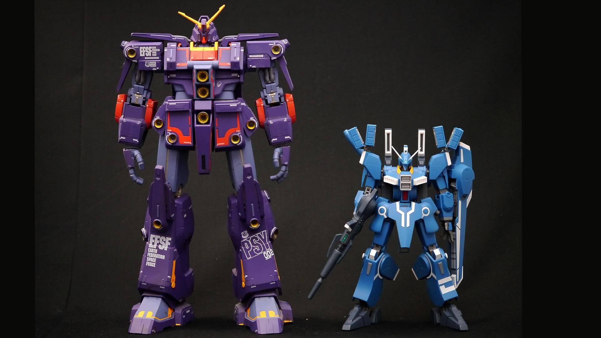 ROBOT魂 ガンダムMk-V サイコガンダムMk-II 比較